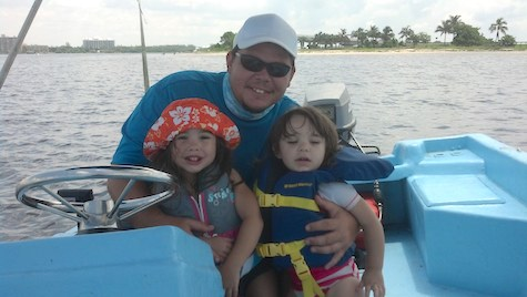 Capt Daniel Medina with children